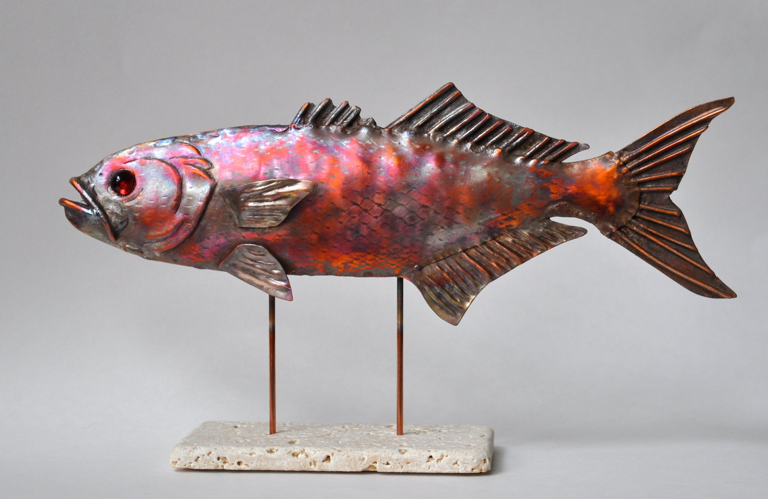 Flamed Bluefish Sculpture