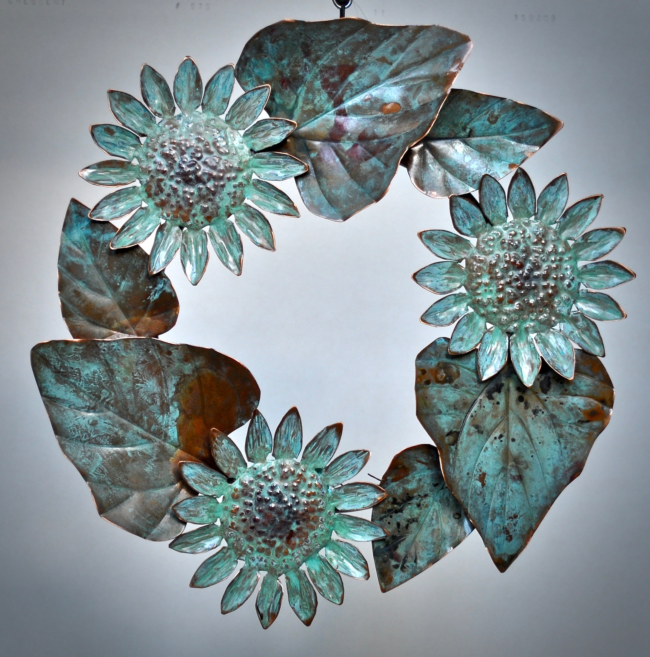Sunflower Wreath with Patina