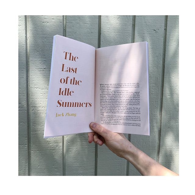 """It's  a perfect day to read Jack Zhang's """"The Last of the Idle Summers."""" Find it in Issue 4 of Lilun Magazine, available NOW in our online shop ☀️ 🍊"""