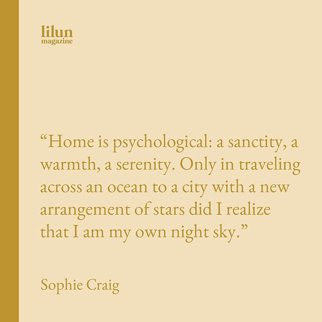 """""""I am my own night sky✨ wise words from Sophie Craig (18), a high school senior from California. Sophie will attend Columbia University in the fall where she hopes to study art history and anthropology. Find her essay """"Home, and its Assembly"""" in our fourth issue, available now at lilunmag.com/shop 🌙"""
