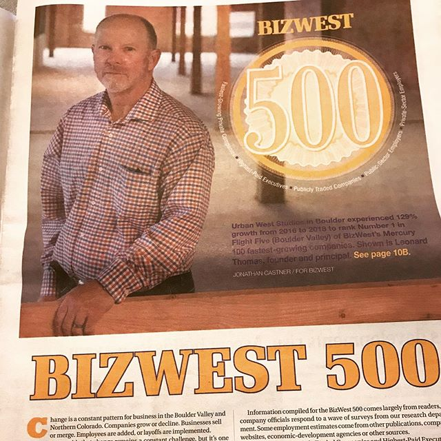 An honor to be mentioned in @bizwestmedia Mercury 100 fastest growing companies in Northern Colorado