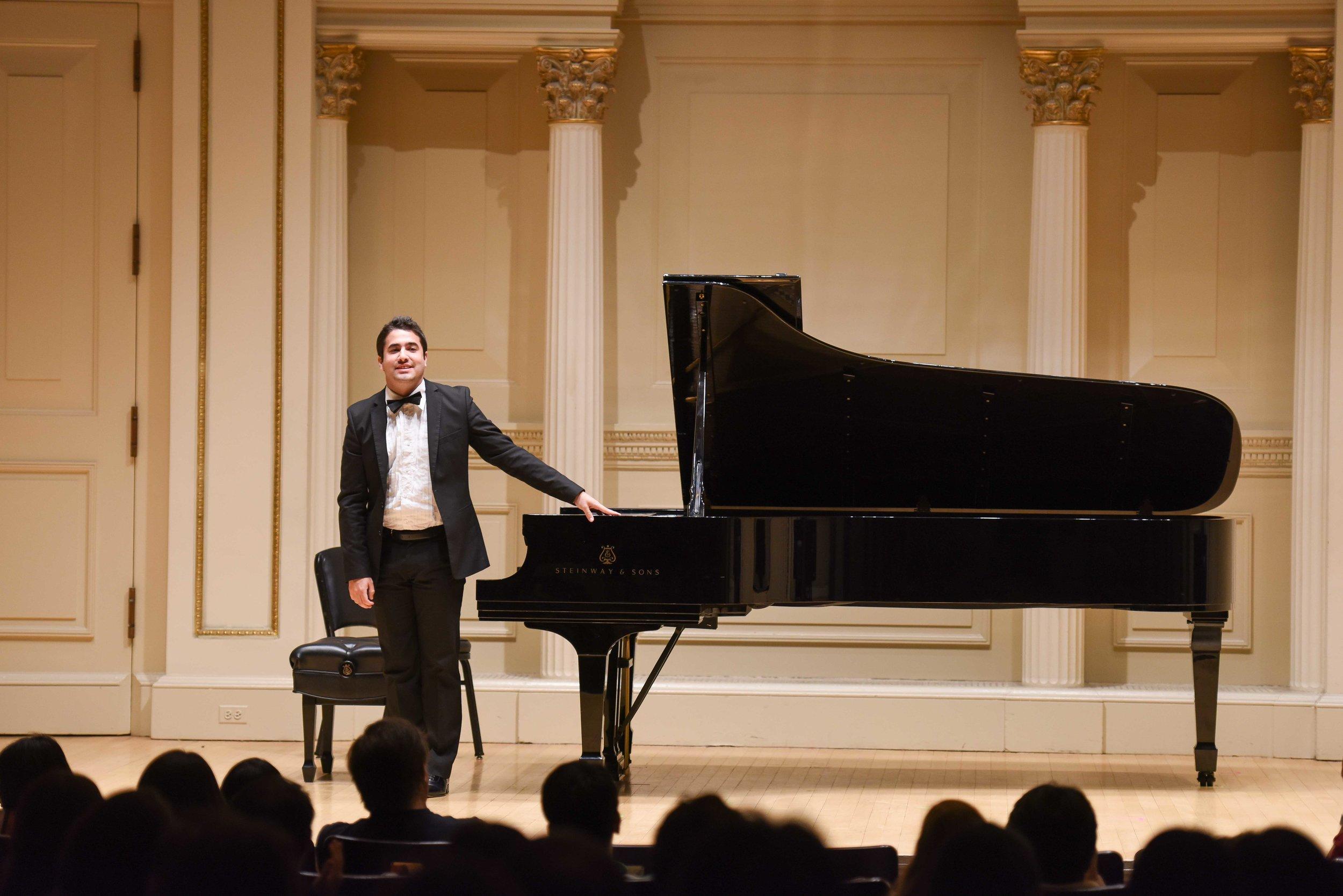 Debut at Carnegie Hall- Weill Recital Hall. New York City,2015.