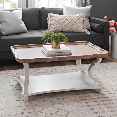 Corina Scalloped Coffee Table, $239,    www.kirklands.com