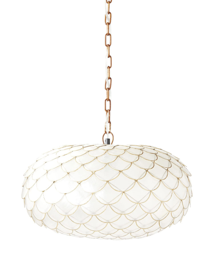 Capiz Scalloped Chandelier, $298,    www.serenaandlily.com