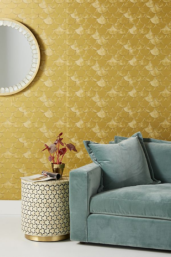 Scalloped Wallpaper, $138,    www.anthropologie.com