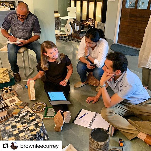 #Repost @brownleecurrey. Capturing the real life. ・・・ Wonder what my work life really looks like when I'm on these trips? This is a pretty good example of @vedaform doing her thing with our India team.  It's not all airplanes, hotels and dusty factories!  Sometimes you just gotta sit yourself down and talk it out. @curreyco