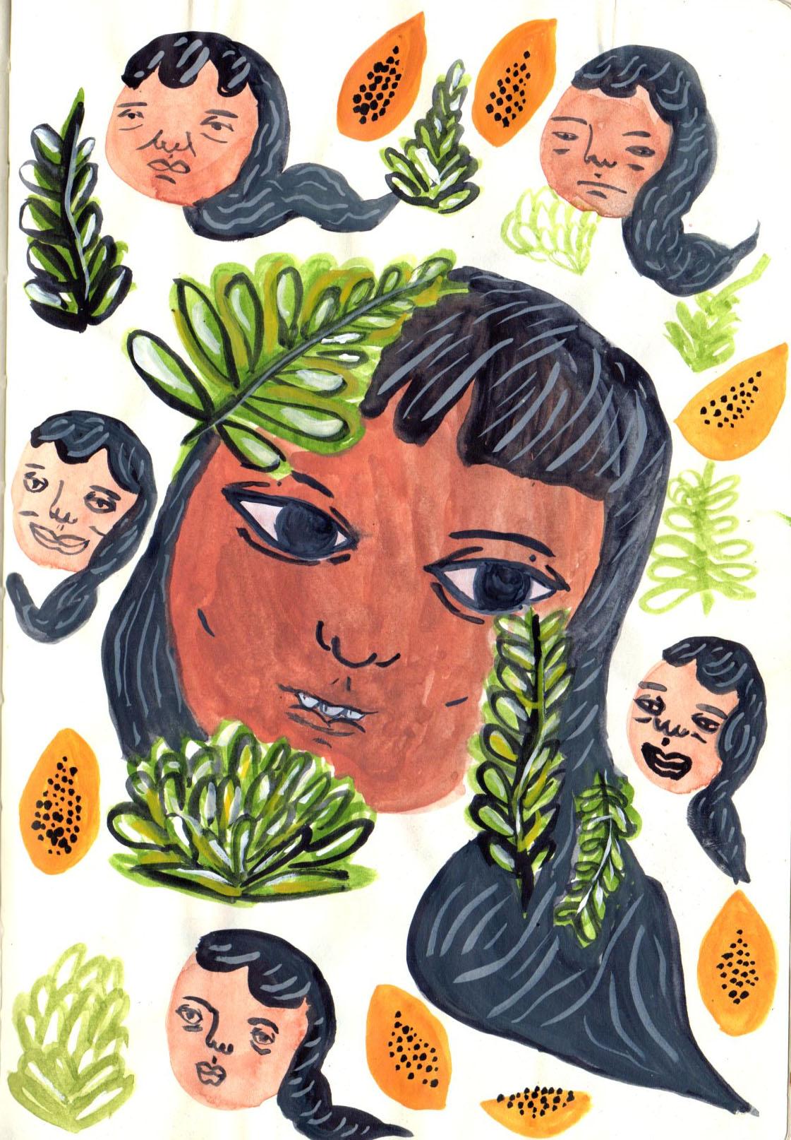 Kayla Quan. Papaya Face , 2016.