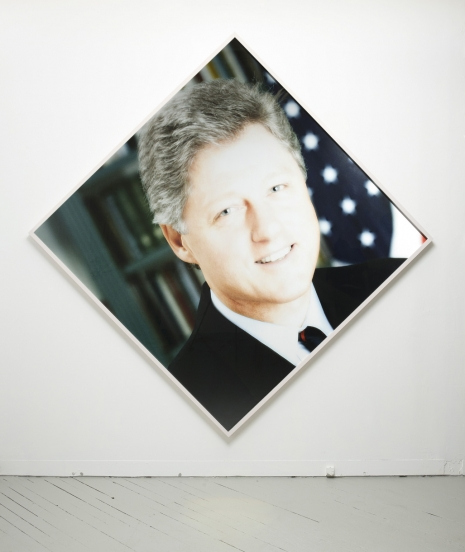First Black President , 2012. Digital print of President Clinton manipulated with early '90s version of Photoshop.
