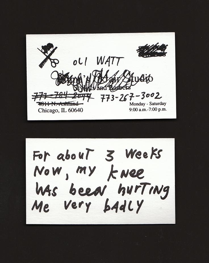 Business Cards , 1998 until present. Offset prints.