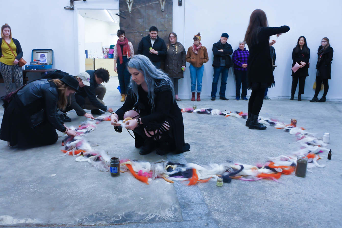 Goo Witch performance as a part of Flesh Crisis 2017 at the Drugstore. Image Courtesy of the Artist