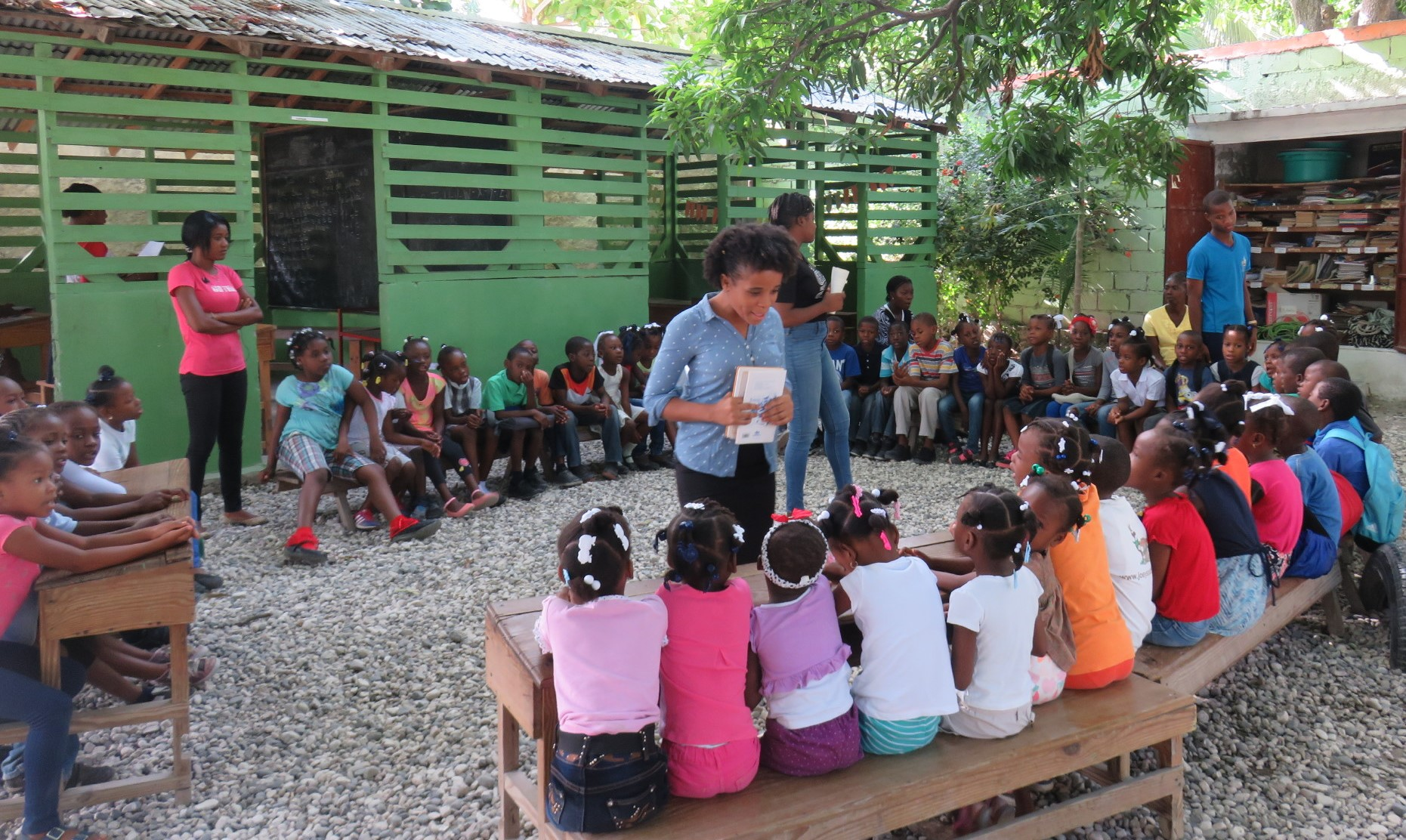 """Louverture Cleary School's early educational program """"Koukouy St. Clare"""" in action."""