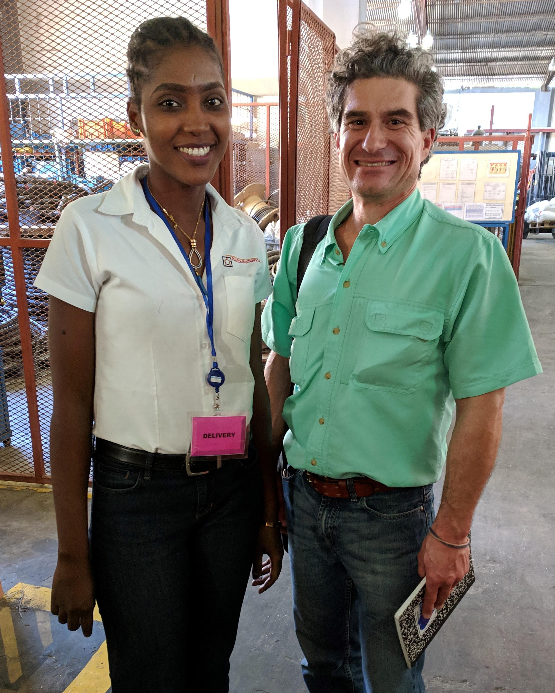 Jesula Tintin (LCS '07) with her former English teacher Jimi Grondin (THP Volunteer '01-'02).