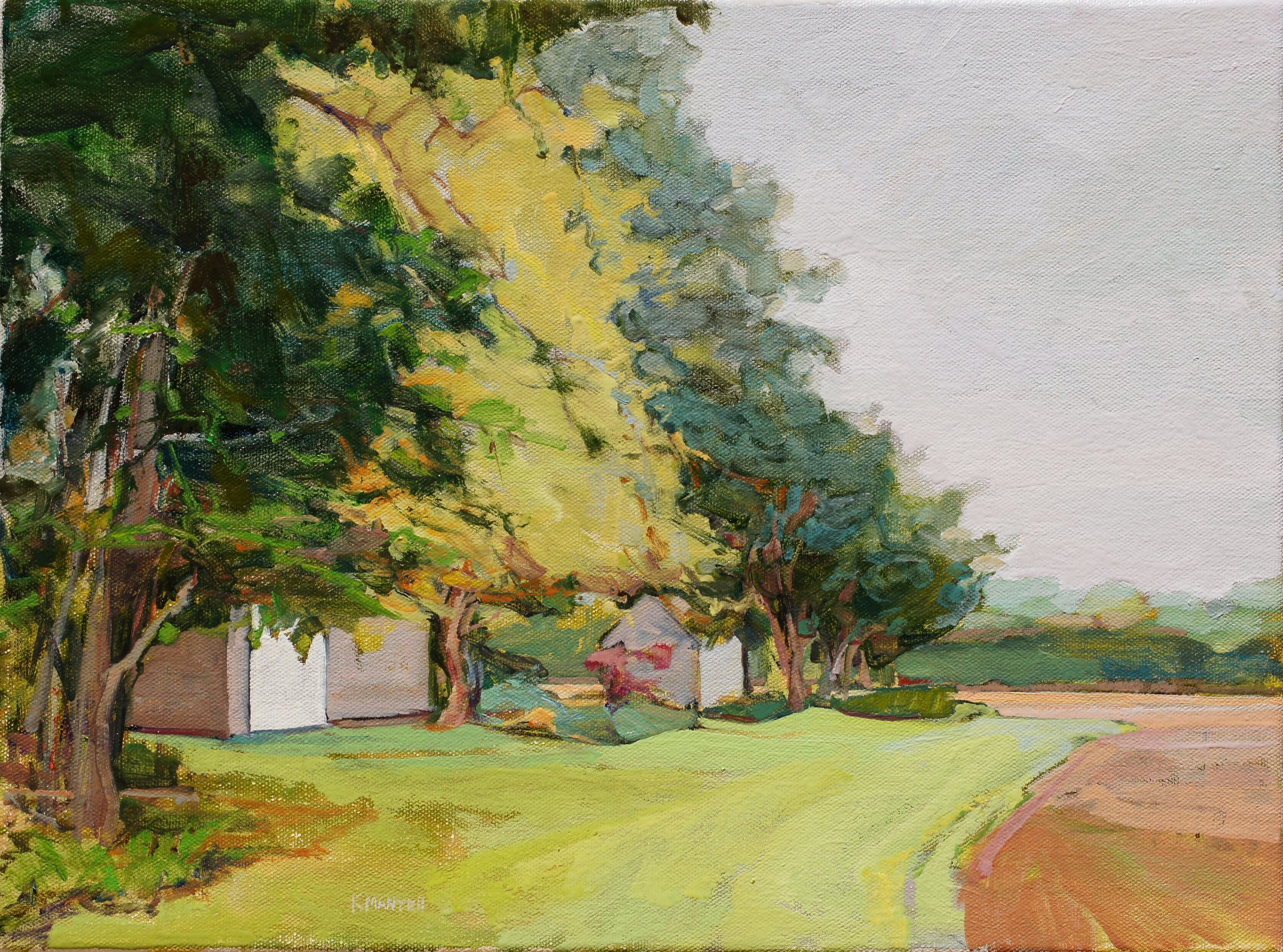 South on Townline, 12x16