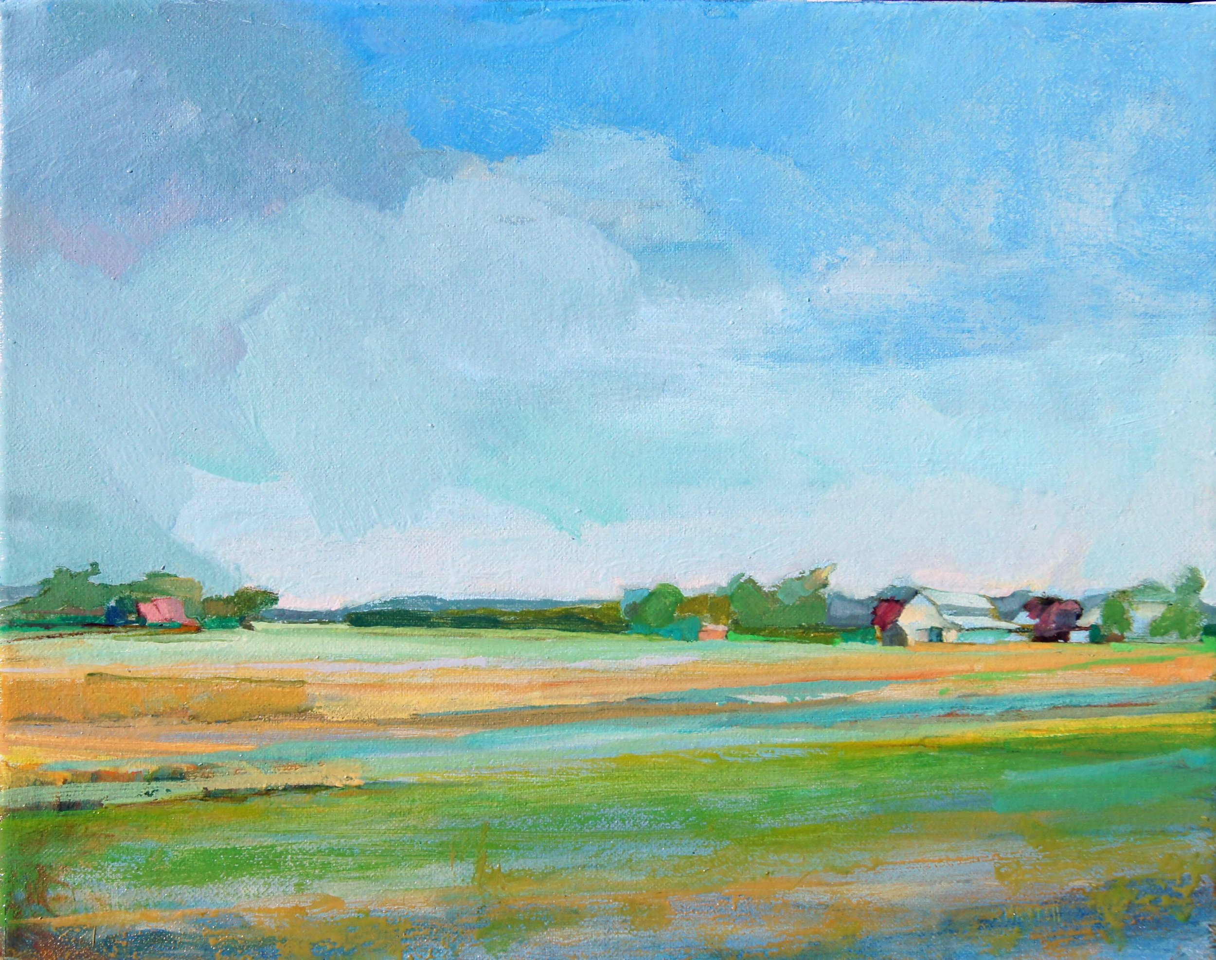 Storm Approaching Anderson Farm,11x14