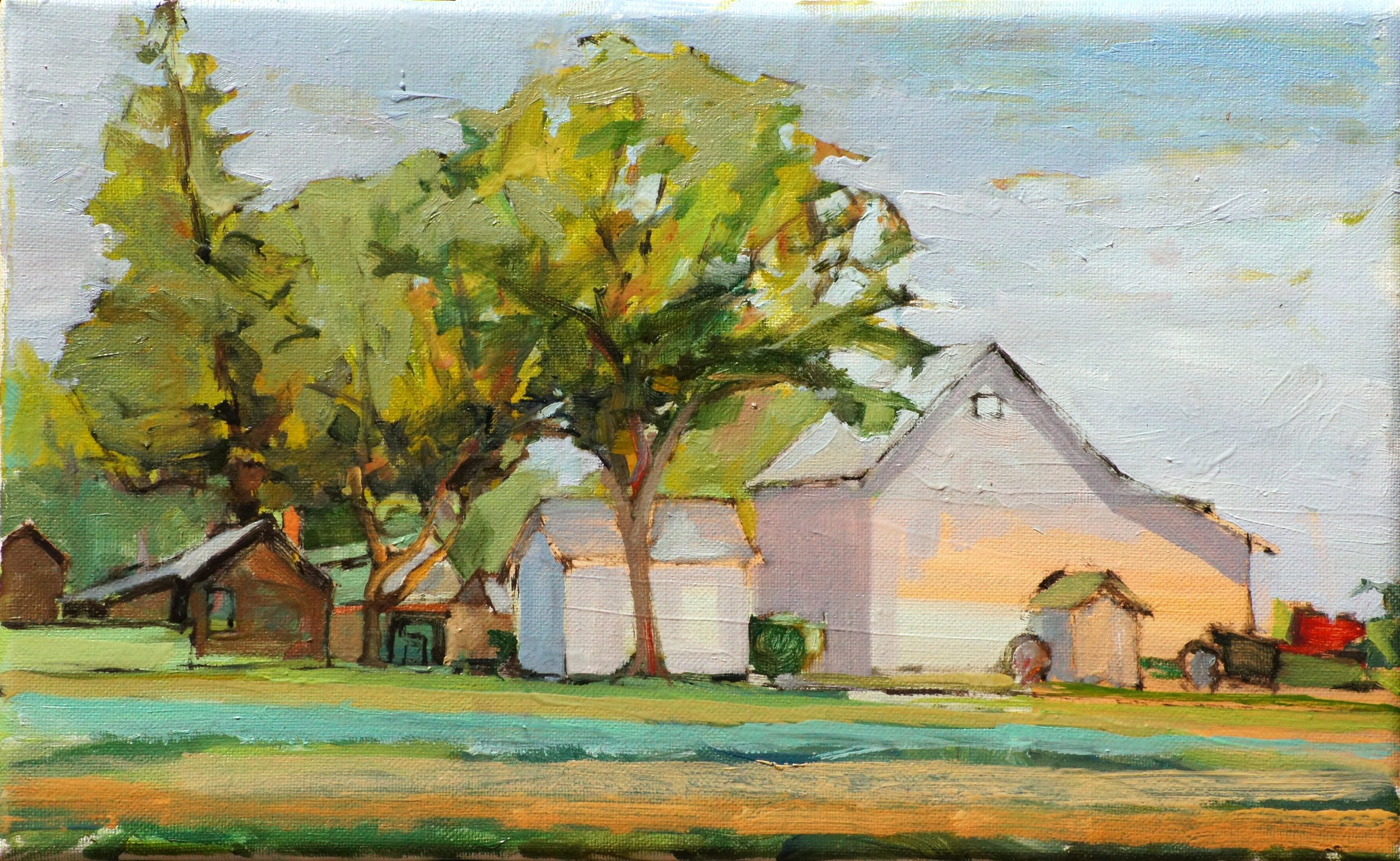Red Tractor. 8x13