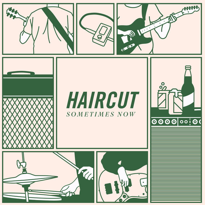 Haircut   Chicago's Haircut mixes melodic arpeggios, midwest post-rock, and emo sensibilities into a modest, and surprisingly clean-cut act. The group began in the guitar closet of Mike Kennedy's Humboldt Park apartment, in 2016. Piecing together off-the-cuff riffs, and inspired by both their east coast 2000s adolescent home and midwest post-rock acts, Haircut attempts to create music with surprising twists and impassioned swells, all to elicit a specific feeling, that at times is indefinable as it is predictable.