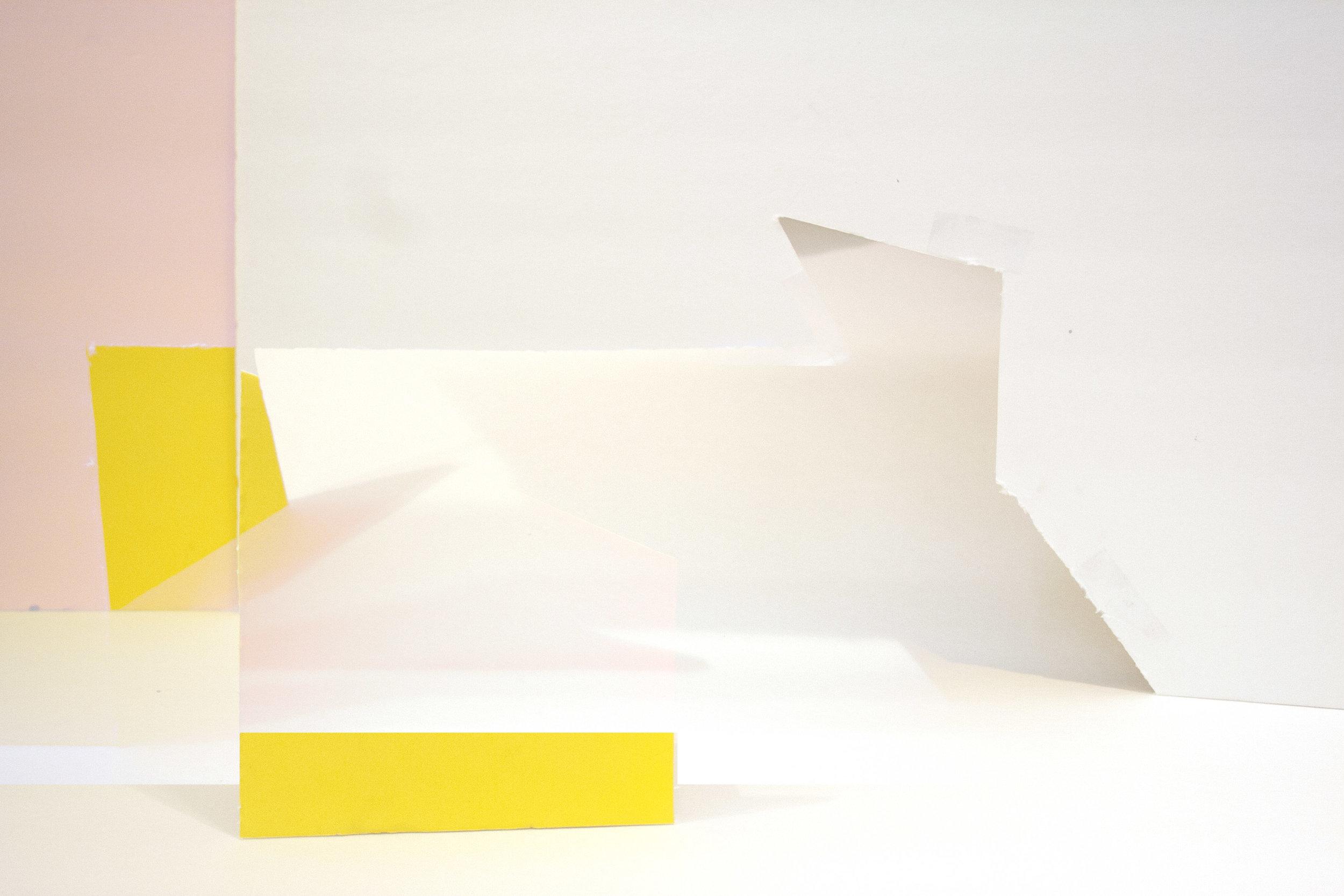 "Pink, Yellow, Yellow   Archival inkjet print  5"" x 8""  2016"