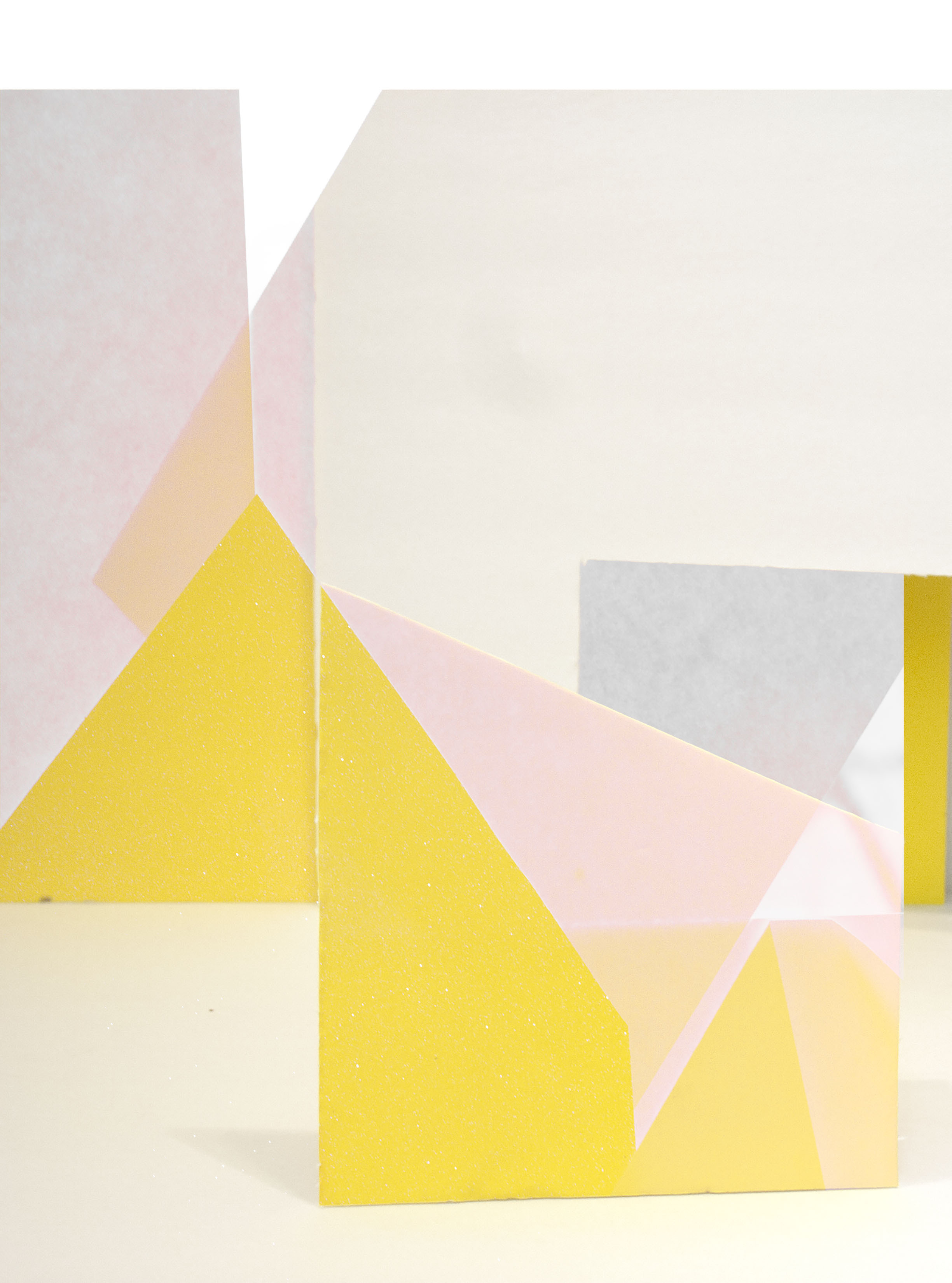 "Yellow, Yellow, Gray   Archival inkjet print  5 1/2"" x 7""  2016"