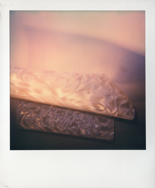 "Reflected Boundaries   Polaroid print  4 3/16"" x 3 7/16""  2017"