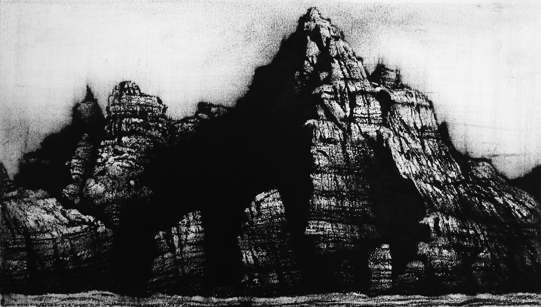 Little Skellig, Ireland  -  21cm x 38cm - Oil Pastel on Paper - 2015