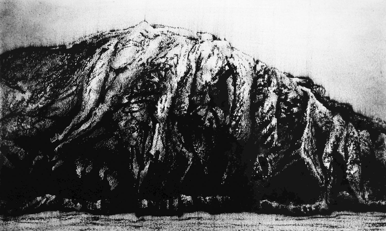 Ballinskelligs Bay II, Ireland  -  21cm x 38cm - Oil Pastel on paper - 2015
