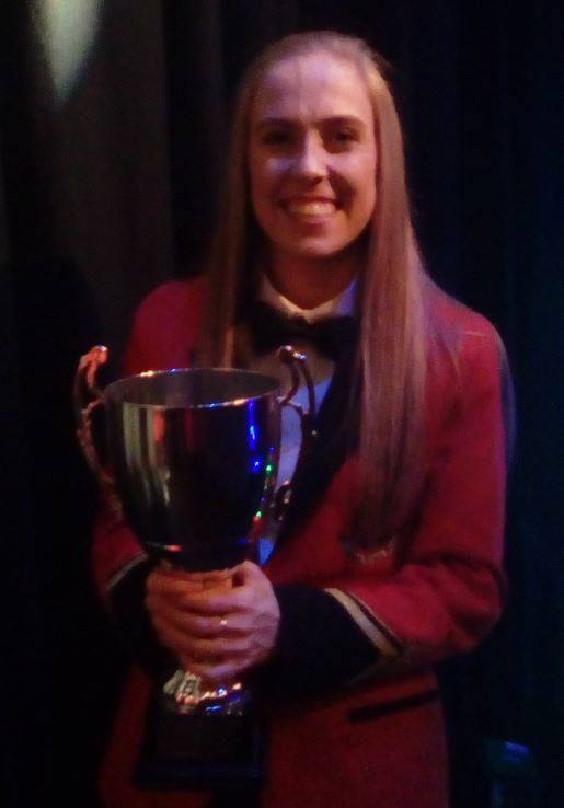 Niamh Shortt, winner of the 2016 Band person of the year