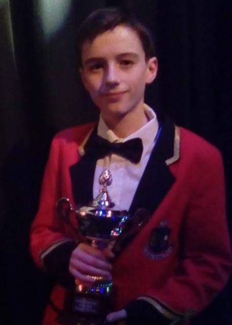 Sean Toner, winner of the Junior Band person of the year