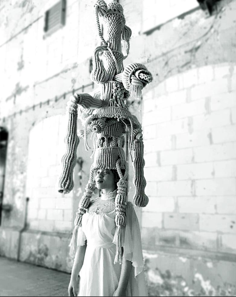 kNOT 'Rebel' | model Fareda | styling, shoot, knotted by Sandra de Groot | 2019