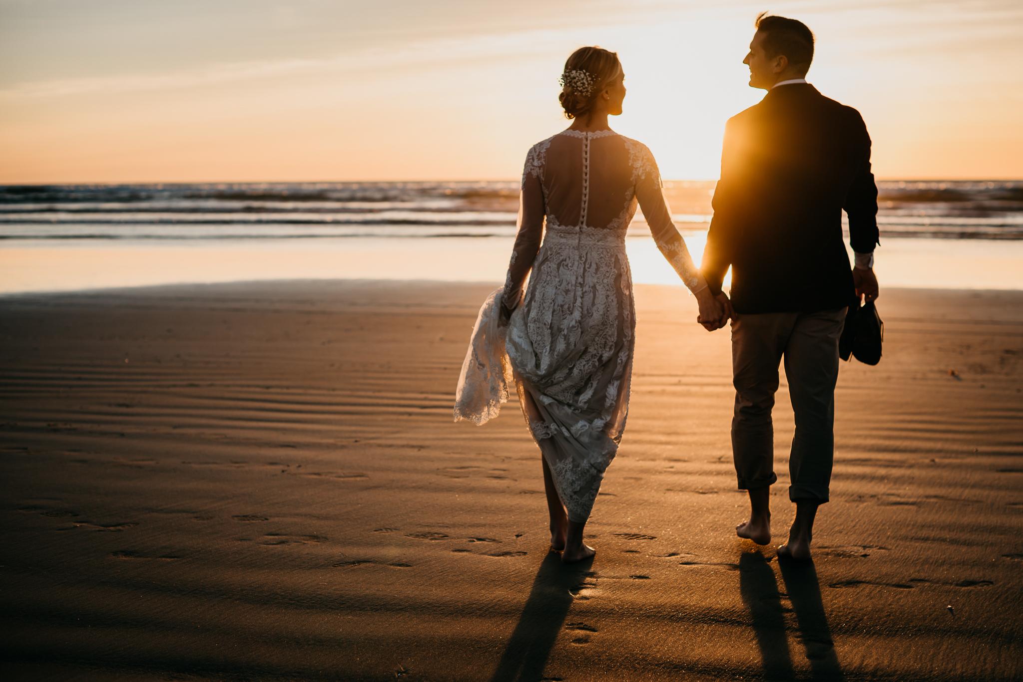 Pismo Beach golden hour wedding