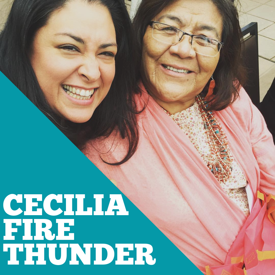 Cecelia Firethunder is a citizen of the Oglala Lakota Nation, her clan is the Kiyaksa Tiospaye from the Pejuta Haka/Medicine Root District of Kyle, South Dakota. Cecelia moved with her family to California on the Relocation program, completed high school and became a nurse. Cecelia then co-founded the American Indian Free Clinic in Los Angeles in the 70's, after moving to San Diego co-founded the American Indian Health Center.  She is the President of Oglala Lakota Nation Education Coalition, Board of Directors for Little Wound School (K-12) and an elder /matriarch Tasunke Wakan Okolakiciye, Medicine Horse Society, addressing trauma in children using Lakota healing practices. She has brought schools and school leaders together to help each other on Lakota Language efforts, and after a long career in health, returned to school and is a Certified Lakota Language teacher. She is an adjunct instructor at Oglala Lakota College where she teaches Lakota Culture, Lakota Traditional Art, American Indian Women, American Indian/Lakota Psychology and Graduate course on Lakota Community Organizing.