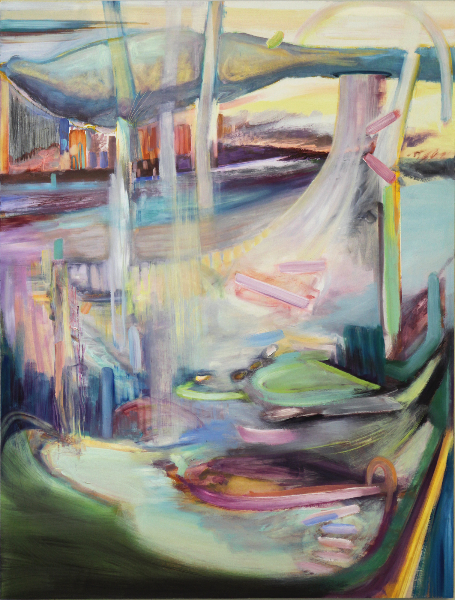 "Harbour  , 2013-2014 Oil on birch panel 40"" x 30"" 