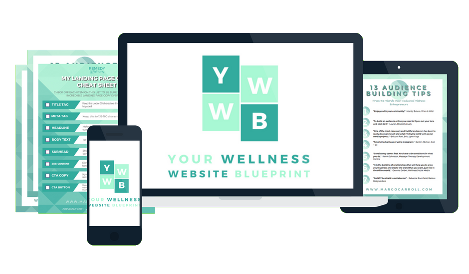 Your Wellness Website Blueprint Course Mock-up