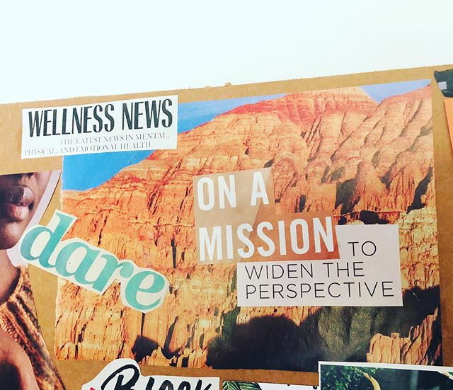My #visionboard be knowin'😎... I absolutely love to SEE what's in my mind✨. To creatively engage with my #higherself. To #vibe with my magazines, scissors and latest playlist. #Visionboards charge me to live (more) intentionally. ✨✨ With that said... the latest innerG xChange is SHOCKING!🤩 I spilled all of my chai☕️, y'all!!! You KNOW you want the scoop!  Click my profile link and see my latest Story for more!🥰 I'm a rising #Phoenix 🌟🙌🏾 #ROOTED #balancedliving #wellness #style #truth #yoga #lifecoach #branding #bicoastal #businessowner #dare #onamission #widentheperspective #wellnessnews #StyleRootYoga