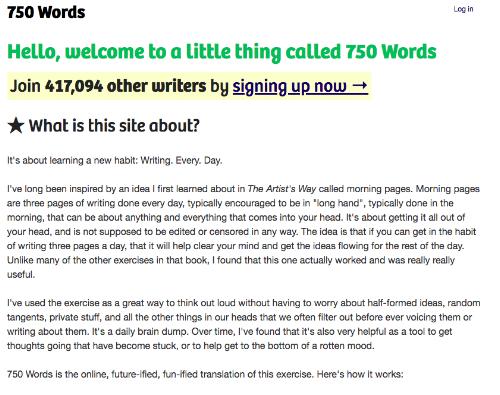750words.com