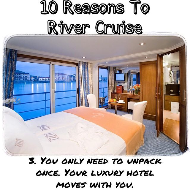 10 reasons why! A river cruise is a luxurious and comfortable way to explore.  Contact me: Mtroia@windroseexpeditions.com 508-514-0251 www.windroseexpeditions.com #windroseexpeditions #europe #travel #traveltips #adventure #rivercruise