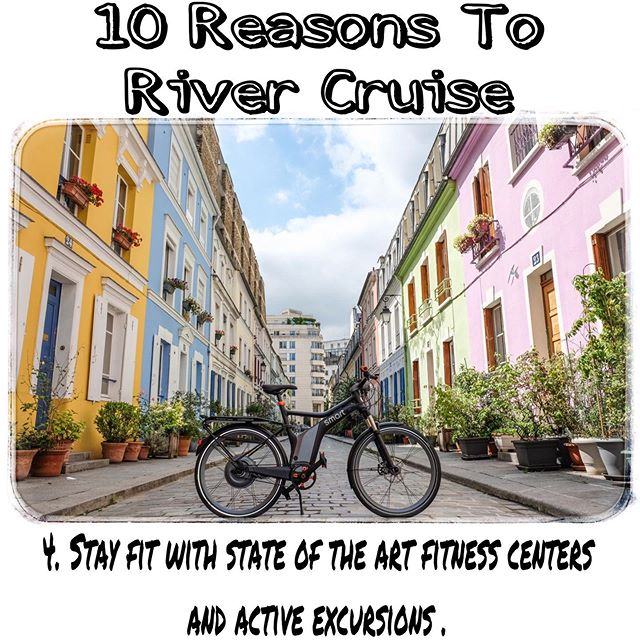 10 reasons a river cruise is a perfect way to travel. Stay fit and active while the River takes you to Vivian new wonders.  Contact me: Mtroia@windroseexpeditions.com 508-514-0251 www.windroseexpeditions.com #windroseexpeditions #travel #europe #rivercruise #adventure #traveltips #asia