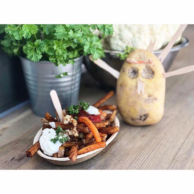 Leckoschmecko Nice Fries auf dem #kdk !#möhre 🥕 #blumenkohl 🥦(fast) #kartoffel 🥔 #frittiert 🍟 #veganundgeil