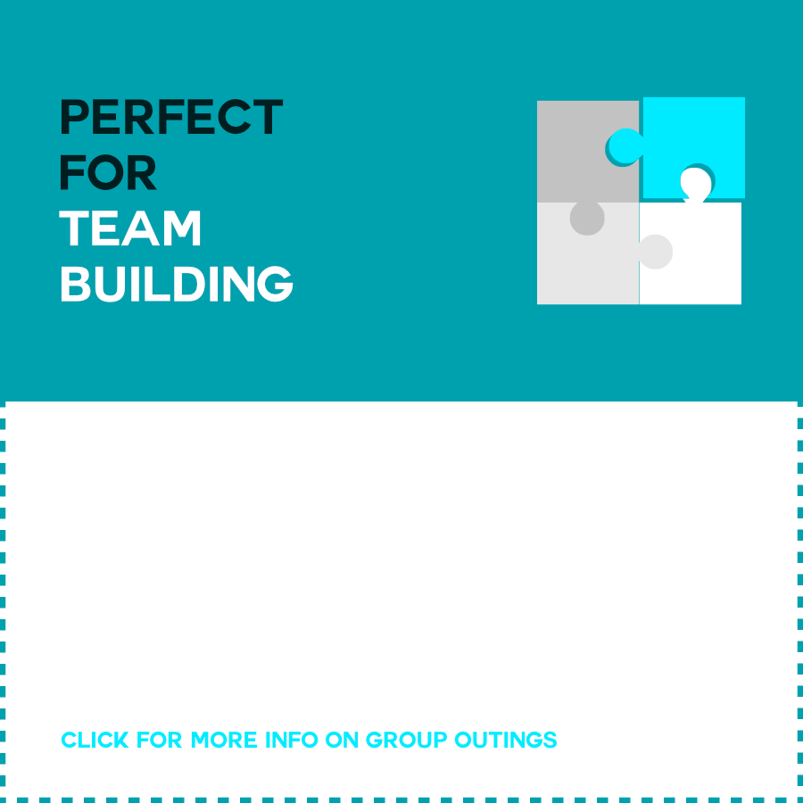 TEAM BUILDING !   Our games are amazingly successful for team building! Your group will have to stay organised and work together to get out in time.  CLICK FOR MORE TEAM BUILDING INFO