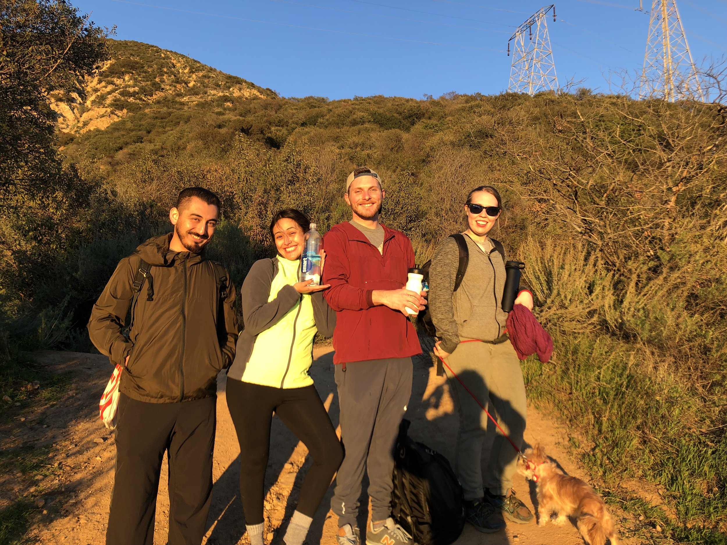 hiking with friends from work a few months back. i've developed a fondness for my co workers and workplace that i haven't experienced anywhere else. i'm not really close with anyone, and i find myself getting quite emotionally worked up at work… lots of rough nights, disorganization, and frustration. but even through the shit storm, i find myself feeling grateful for the folks i've met through this quirky restaurant job. this was a fantastic hike and a fantastic day.