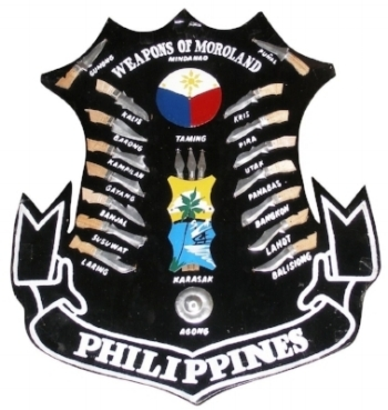 "The ""Weapons of Moroland"" shield--a testament to one's ""Filipino-ness."""