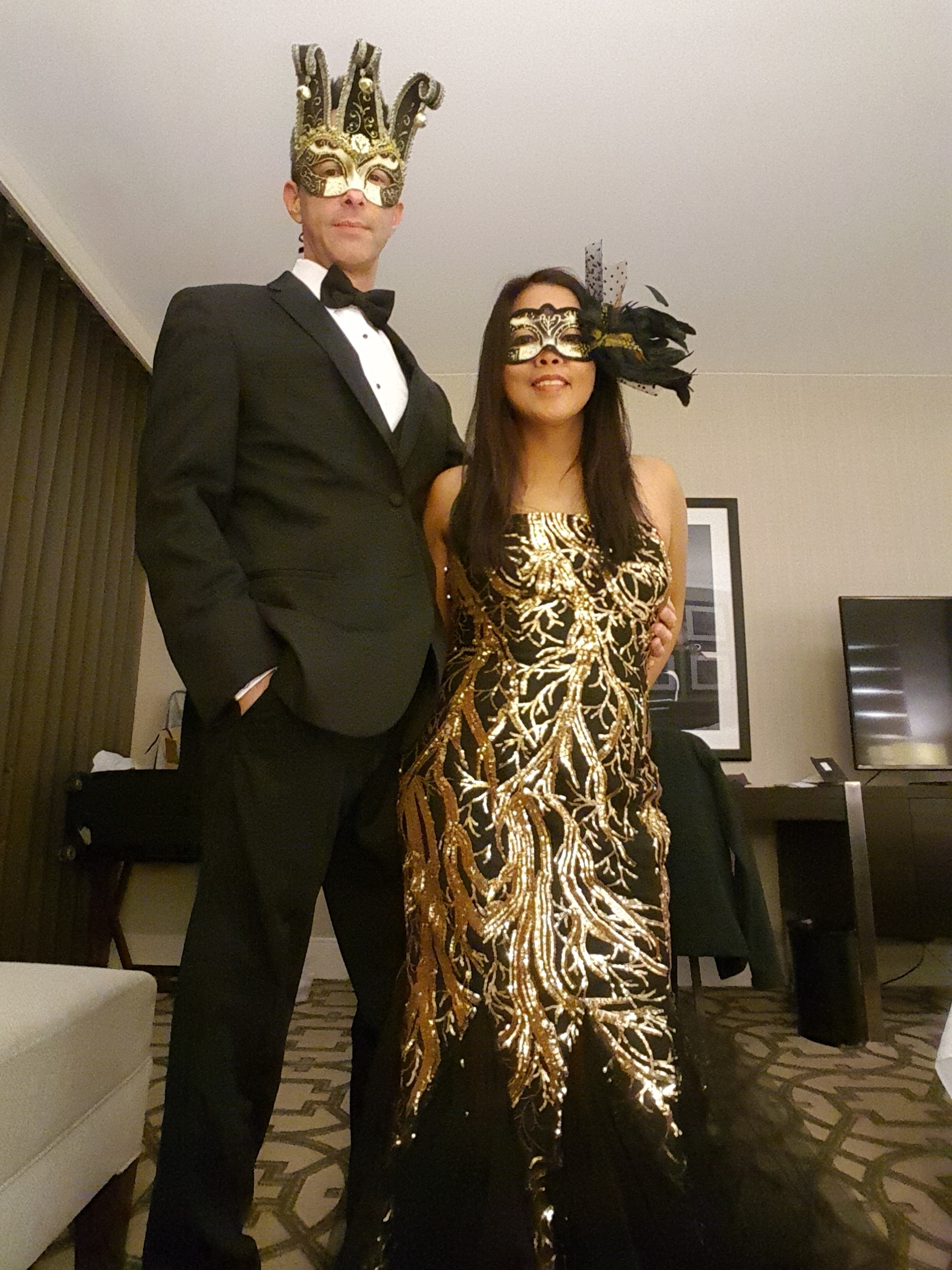 All dressed up for a masquerade!