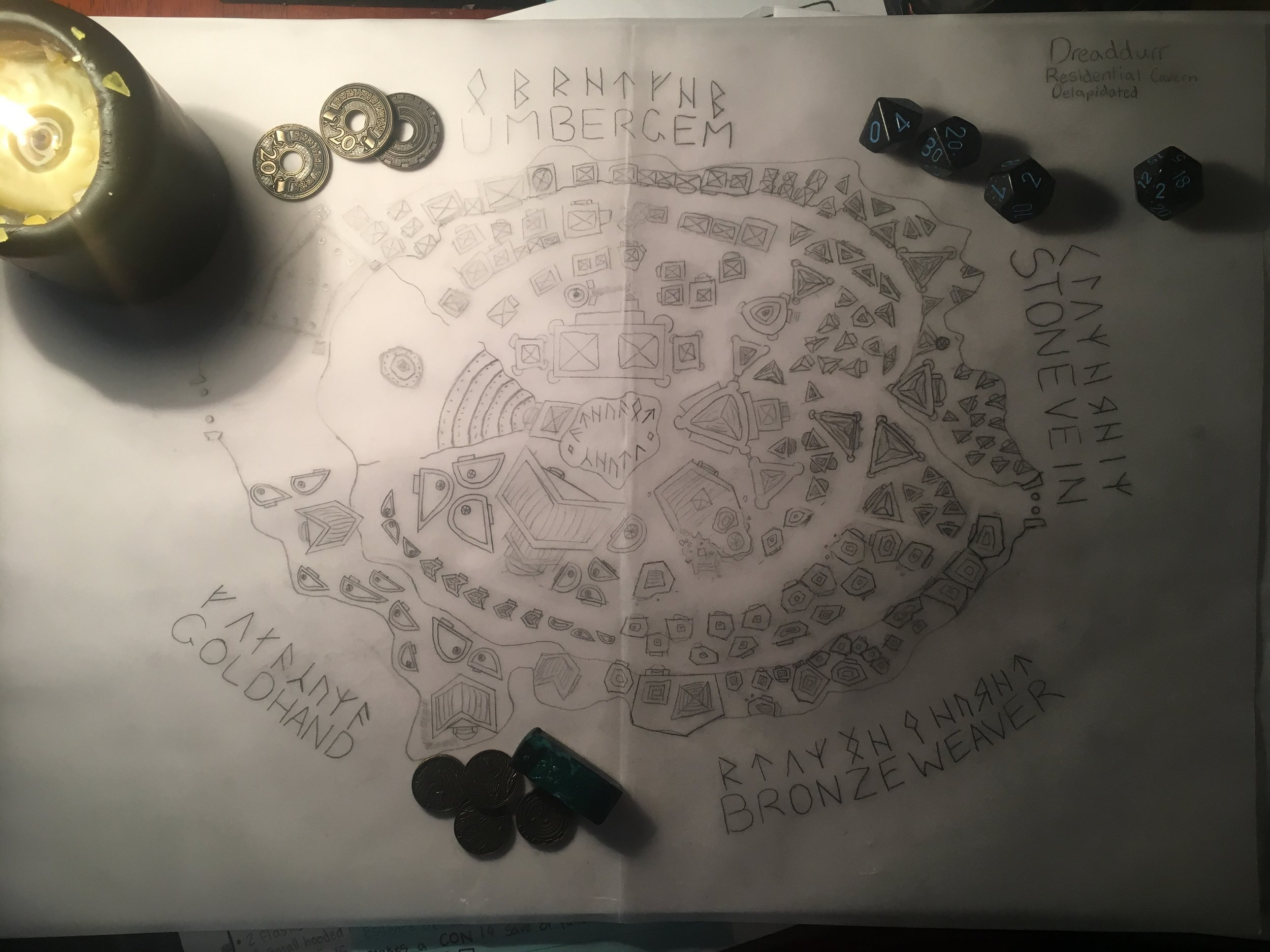 A Smuggler's Map for the Cavern City of Dreaddur