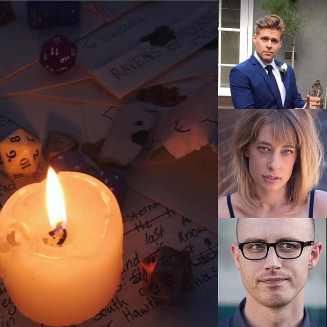 In flickering candlelight you may be able to decipher the glyphs that reveal A LIVE DUNGEONS AND DRAGONS SHOW! This Friday at the improv conspiracy theatre with the wonderful and talented trio of Owen Vandenberg, Jessica Greenall, and Jeremy Gavin! There will be magic! #improv #dungeonmaster #fantasy #podcast #rpg #melbourne #liveshow #dnd
