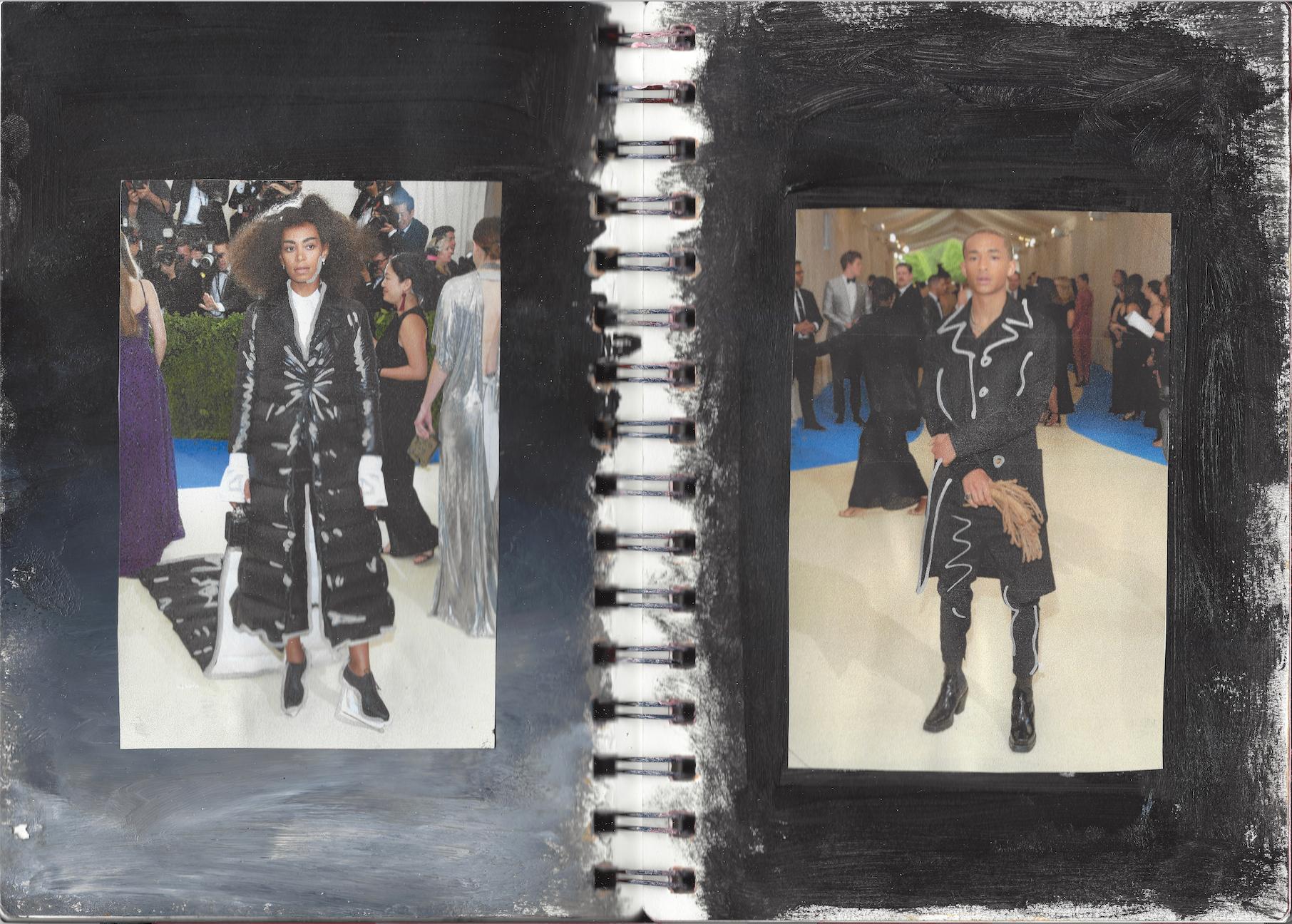 Solange wears Thom Browne, Jaden Smith wears Louis Vuitton
