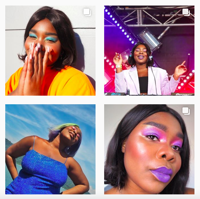 """Lillian Ahenkan (@flex.mami) - Ghanaian-Australian DJ, MTV Presenter and beauty and fashion personality, there's nothing Flex can't do. Bringing out her E-Book earlier this year, #FullTimeFlex, is a """"simple 3 step guide to manifesting"""". Flex proves she can do both; business women and style queen. Currently reviewing period accessories, such as THINX underwear and the Diva Cup, on her Instagram stories, she continues to normalise unnecessarily taboo topics such as menstruation and our relationships with our bodies."""