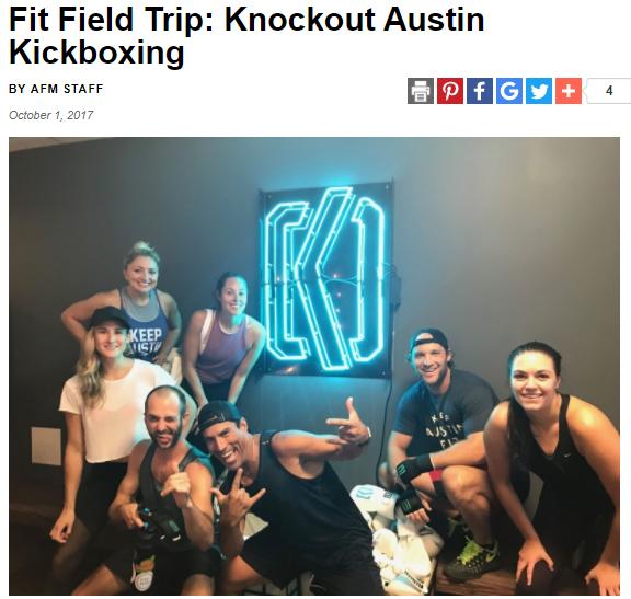 Fit Field Trip: Knockout Austin Kickboxing