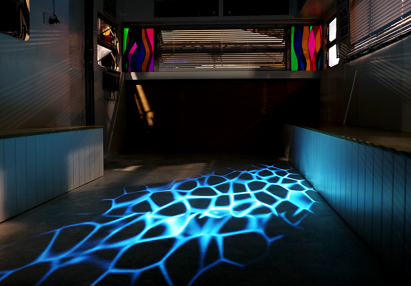 Refractions [2018] - Multichannel Real-Time Video Floor Projection