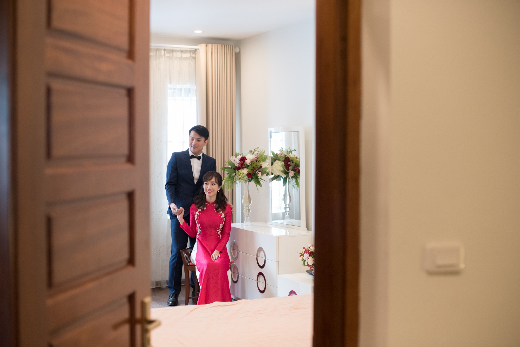 THEIR STORY - My & Minh was introduced to each other in one of the most unromantic way that is (according to the bride), via a matchmaker. However, that did not stop the couple from having one of the most adorable love stories.