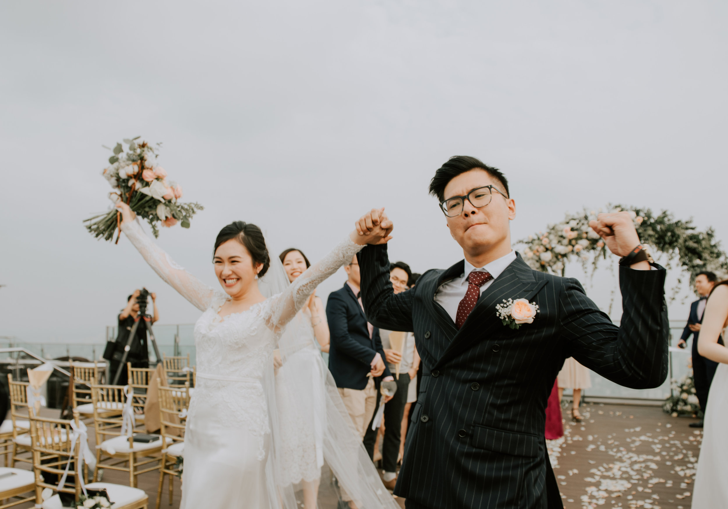 """HIEN TRANG & DUC ANH - """"We are a couple living abroad, and we kind of delayed the whole preparation until 2 months before the big day, so the day we woke up and realized we had tons of things to do, we contacted The F Lab. And it went beautifully <3 It took us so long (2 months after our wedding) but better late than never to write these words to the planning team behind the success of our happiest day, especially our wedding planner Ngoc Hoang…"""""""