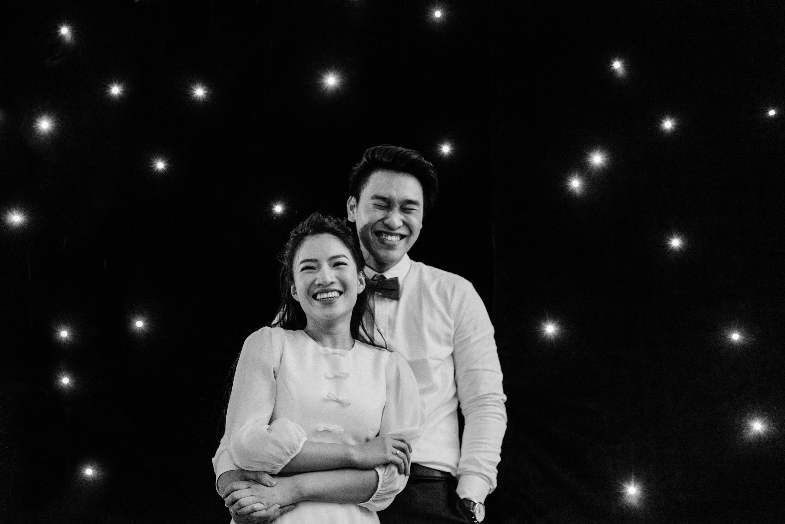 TRUONG AN & DUC ANH - It's been 2 months since the wedding yet we still vividly remember our first meeting. Before Quynh Anh introduced us to you, all we had was a blurry vision and no clue where to start. Although Giang was totally surprise by our young age, she always inventively listened to all of our requests and crazy ideas and somehow manage to turned them into one dream wedding for us.